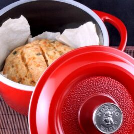 Gluten-Free Dutch Oven Cheddar and Beer Bread