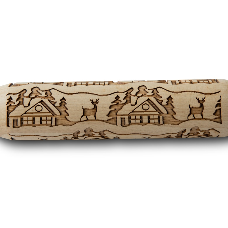 Woodland Cottage Embossing Rolling Pin