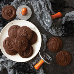 Spooky Chocolate Stamped Cookies