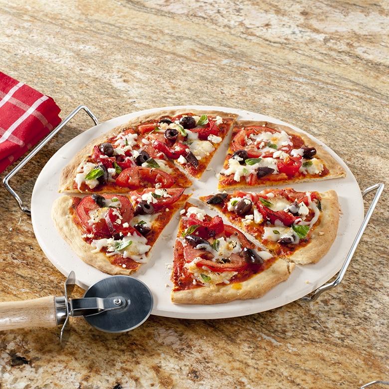 13 Inch Pizza Stone Set