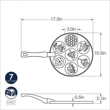 Dimensional drawing bee pancake pan