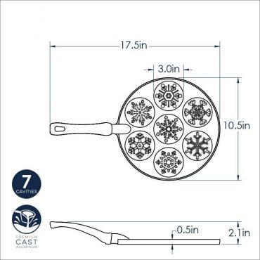 Dimensional Drawing Fall Snowflake Pan