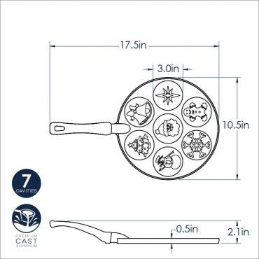 Dimensional Drawing for Holiday Pancake Pan