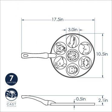 Dimensional drawing Zoo pancake Pan