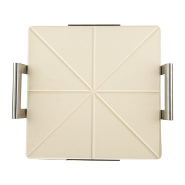Square Pizza stone with rack, backend of stone