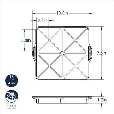 Mini Scone Pan dimensional drawing