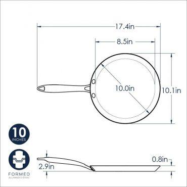 Crepe Pan dimensional drawing