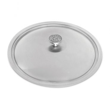 """12"""" Stainless Steel Lid with cast aluminum knob"""