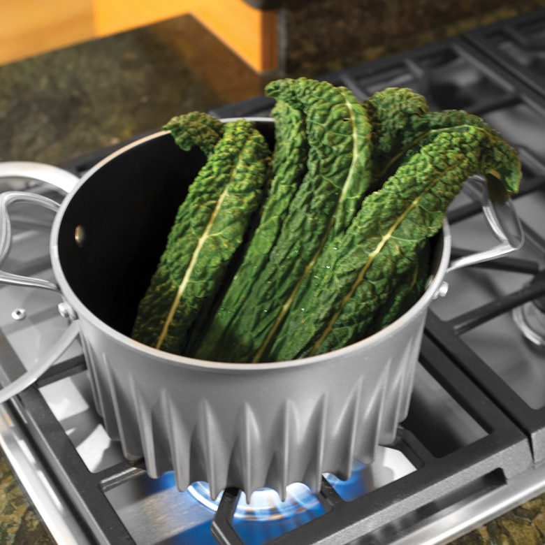 Flare 6 qt Stock Pot with glass lid