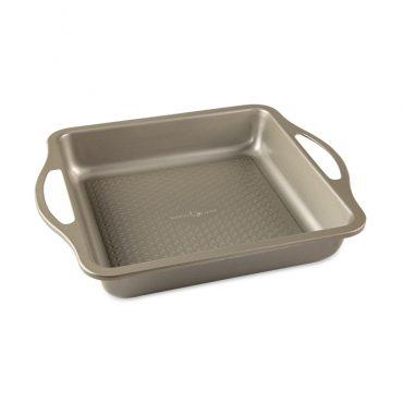 """Treatâ""""¢ 9"""" Square Cake Pan, textured surface"""