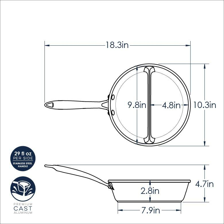 2-in-1 Divided Sauce Pan