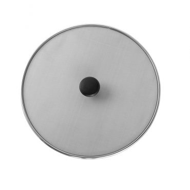 """13"""" Crispy Dry Fry Spatter Cover, aluminum mesh with black knob"""
