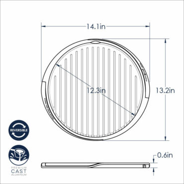 Round Reversible Griddle