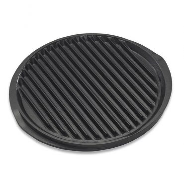 Cast aluminum round reversible grill and griddle, nonstick surfaces