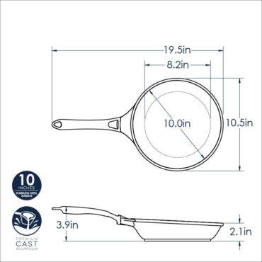 "10"" Saute Skillet Dimensional Drawing"
