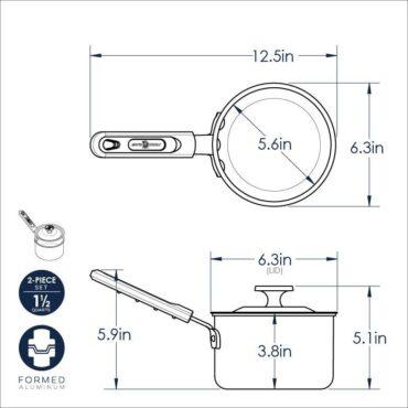 Dimensional Drawing 1.5 Qt Sauce Pan