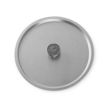 "10"" Stock Pot Cover, logo knob"