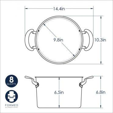 8 Qt Stock Pot dimensional Drawing