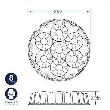 Pineapple Upside-down Dimensional Drawing