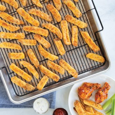 Baked french fries on Extra Large Oven Crisp Baking Tray
