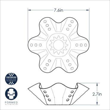 Tortilla Bowl Maker dimensional drawing