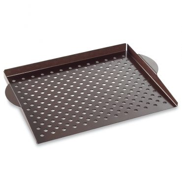 Grill Topper, tray with venting holes