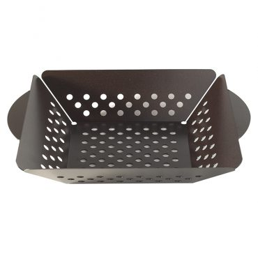 Grill basket with handles and venting holes