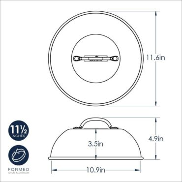 High Dome Melting Lid Dimensional Drawing