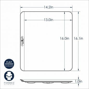 Insulated Baking Sheet dimensional drawing