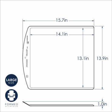 Large Cookie Sheet Dimensional Drawing
