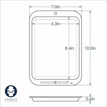 Compact Baking Sheet Dimensional Drawing