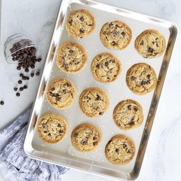 Chocolate Chip Cookies on Half Sheet