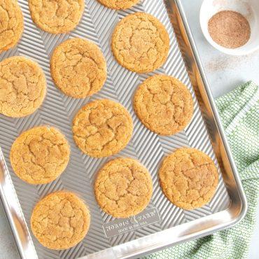 Baked cookies on Prism half sheet