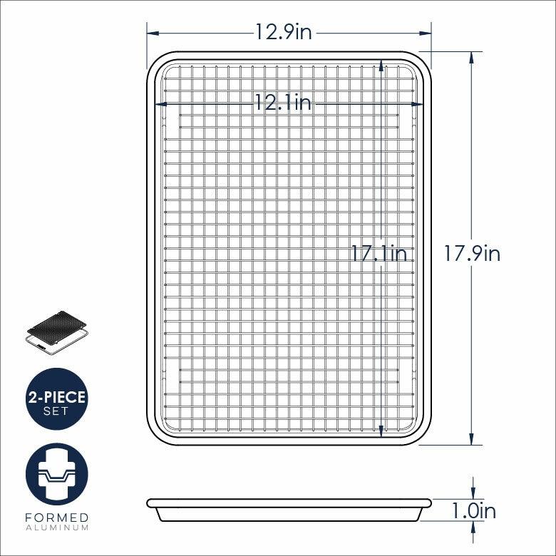 Naturals® Half Sheet with Oven-Safe Nonstick Grid
