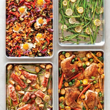 Four Sheet Pan Meals on Half Sheets