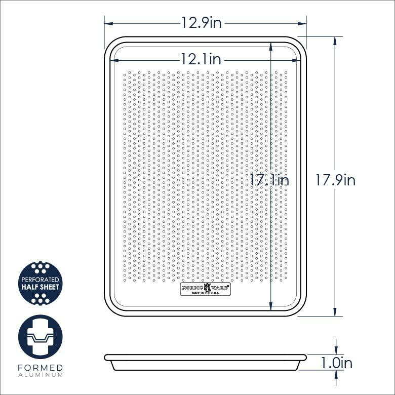 Naturals® Perforated Crisping Half Sheet