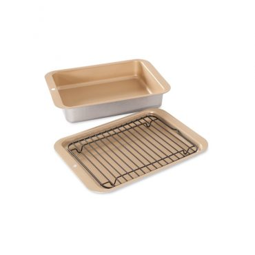 Nonstick Compact Ovenware 3 Piece Broil and Bake Set