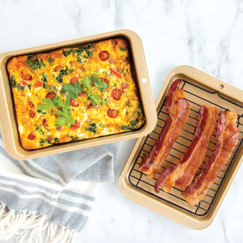 Nonstick Compact Ovenware 3 Pc Broil and Bake Set