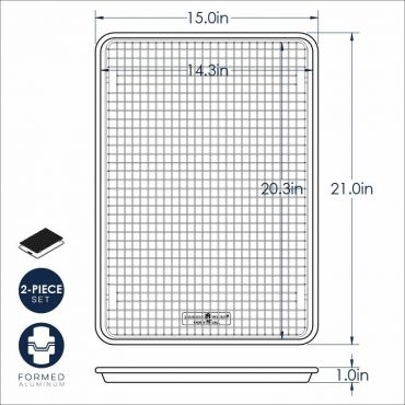 Big Sheet with grid dimensional drawing