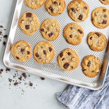 Chocolate chip cookies on Prism Big Baking Sheet