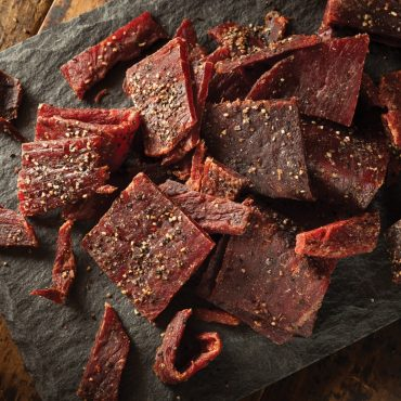 Dried jerky made on oven pan