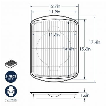 Dimensional Drawing Oven Crisp Tray
