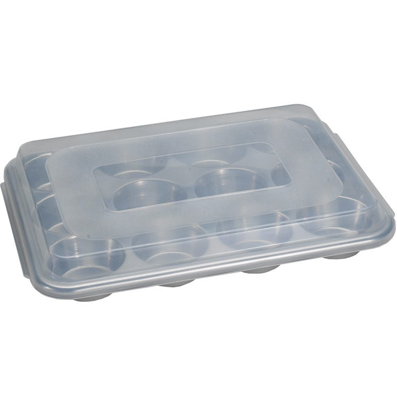 Naturals® 12 Cavity Muffin Pan with Lid