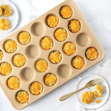 Naturals® Nonstick 24 Cavity Petite Muffin Pan with egg bake