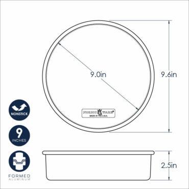 "Naturals® Nonstick 9"" Round Cake Pan Dimensional Image"