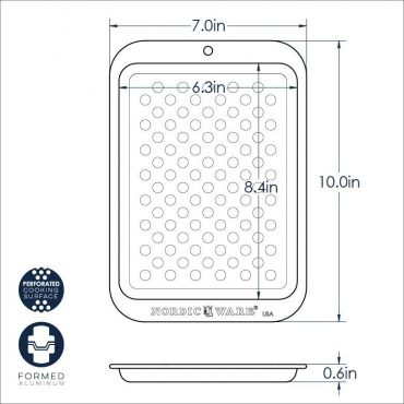 Compact Crisping Sheet Dimensional drawing