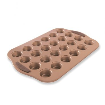 Freshly Baked Copper Mini Muffin Pan, 24 cavities