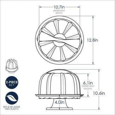 Bundt Stand dimensional drawing