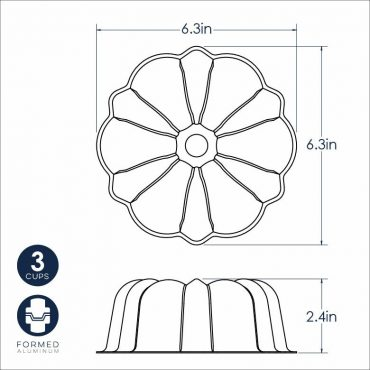 Dimensional Drawing 3 Cup Formed Bundt