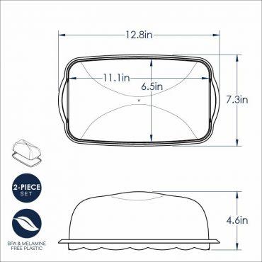 Loaf Keeper Dimensional drawing